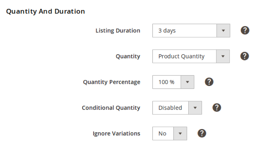 Quantity and Duration
